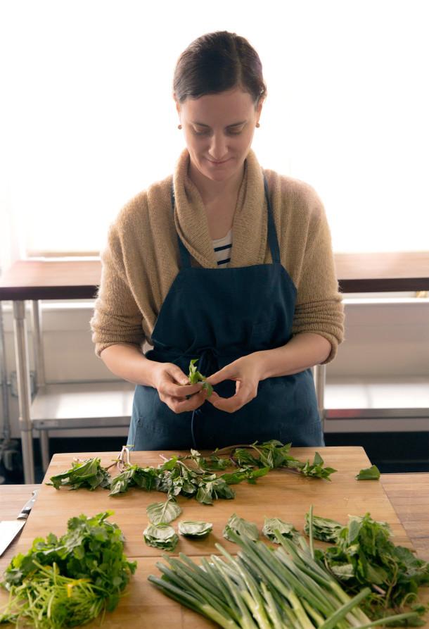 Jess Voelker Preparing Staff Meal