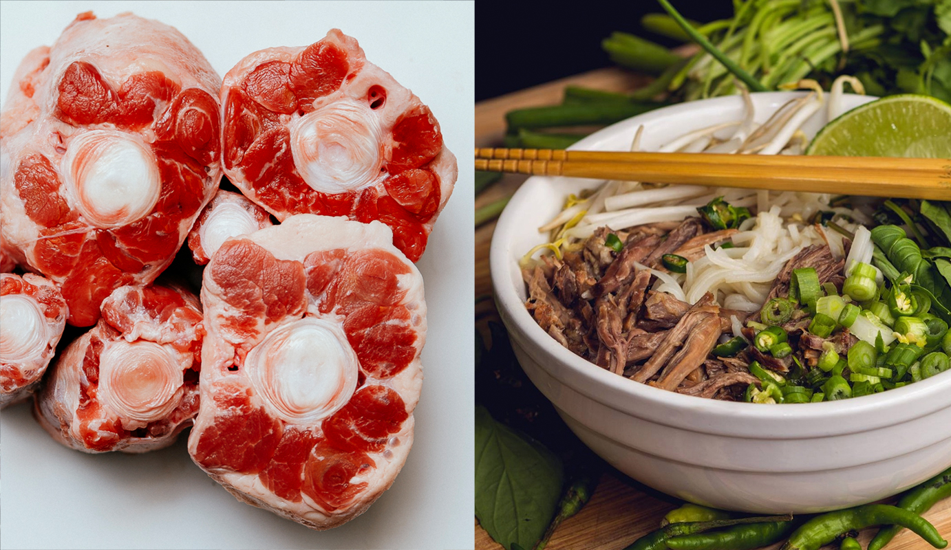 Zymantas started with oxtail, an inexpensive tough cut, and transformed into gorgeous pho. Photo courtesy of Linas Zymantas.