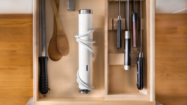 We built Joule to fit seamless in today's kitchen. It fits in a drawer with your knives and your spatula, and you'll use it just as often.